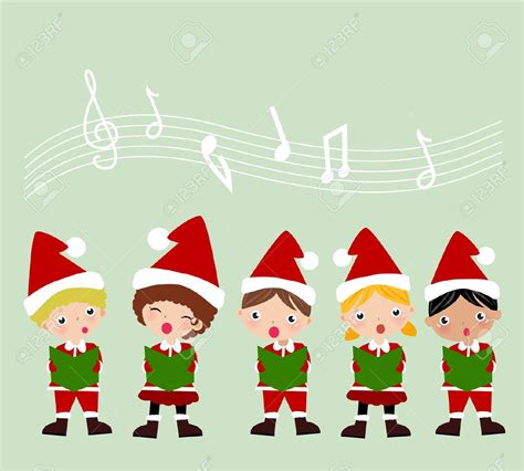 32 christmas carol singers clipart