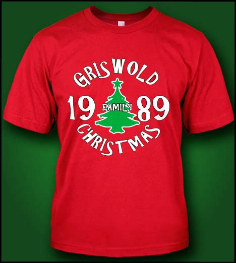 design t shirt for holiday griswold family christmas 1989 christmas t shirts