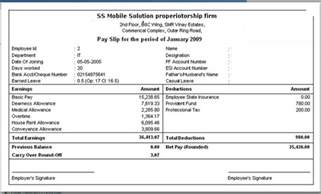 payslip template malaysia salary slip format using excel template