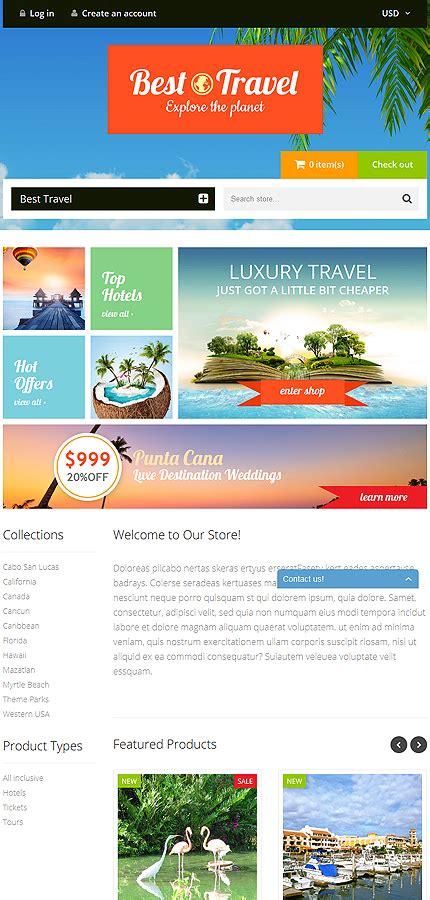 shopify travel themes travel bureau shopify theme 52936
