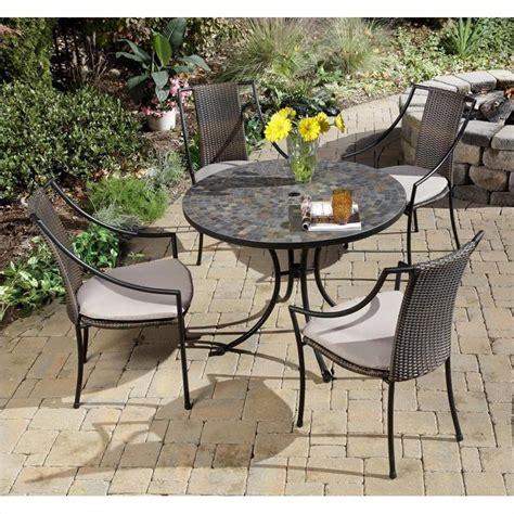 5 piece metal patio dining set in black 5601 3080