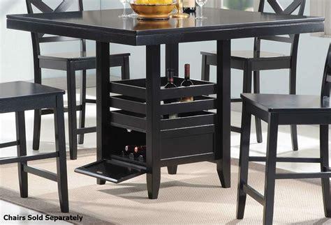 coaster 104838 black wood dining table a sofa