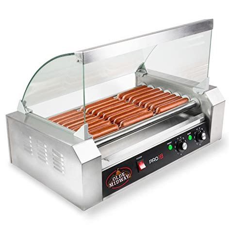 Bartscher Electric Hotdog Machine olde midway olde midway electric 18 7 roller grill cooker machine 900 watt with cover