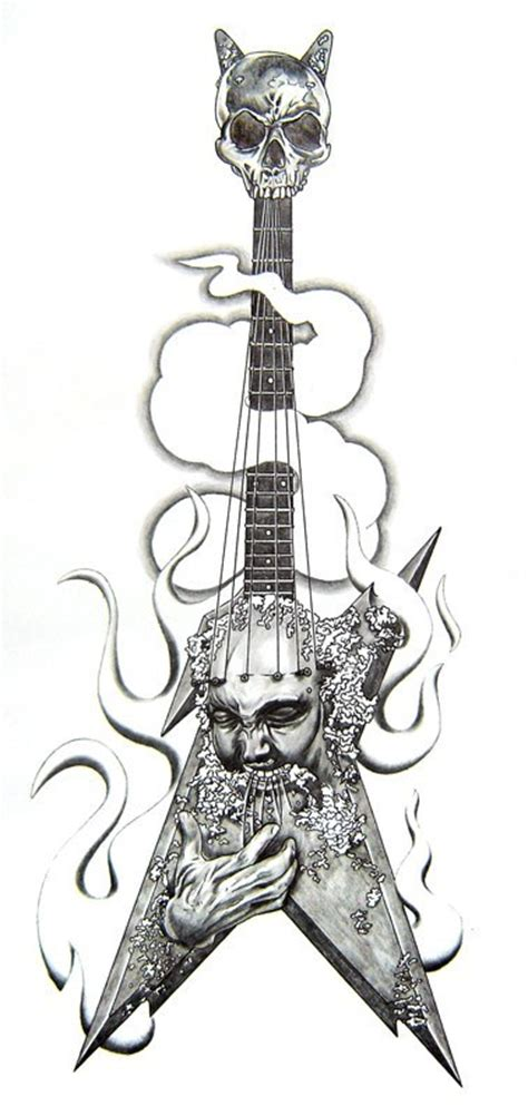 electric guitar tattoo designs electric guitar sketch best designs
