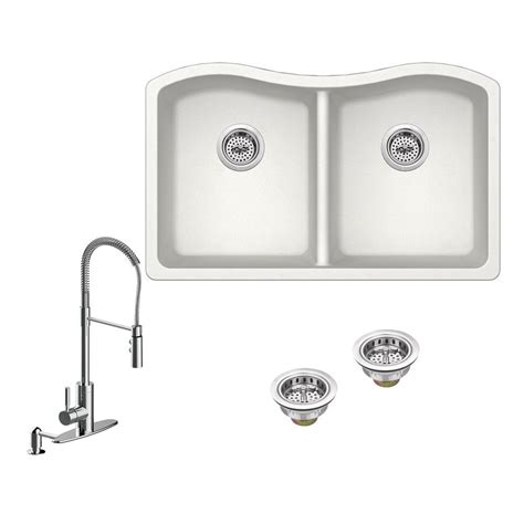 kitchen sink company ipt sink company all in one undermount granite composite