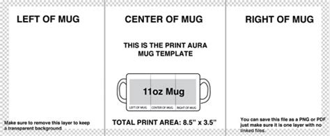 Image Size Format Guide Print Aura Dtg Printing Services 11 Oz Mug Template Size