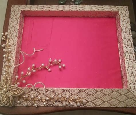 Handmade Saree Packing Trays - wedding packing shrishti saree packing trays