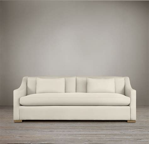 restoration hardware classic slope arm sofa pin by b on for the home
