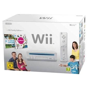 console wii family edition console wii blanche nintendo pack wii family edition