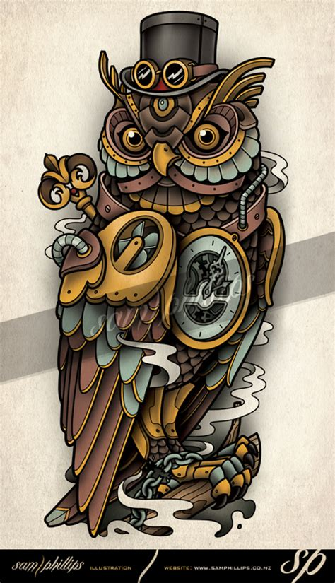 mechanical owl tattoo list of synonyms and antonyms of the word steunk owl