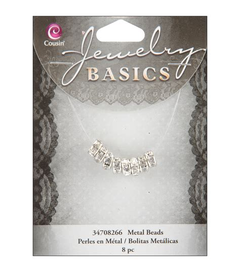 jewelry basics jewelry basics 4mmx8mm rondelle silver w jo