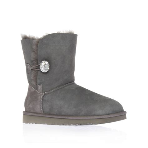 gray boots ugg bailey bling boots in gray light grey lyst