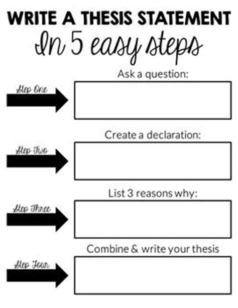 steps to writing a thesis 1 write thesis statement the writing center