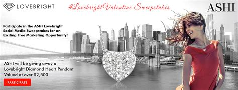 Valentine Sweepstakes - ashi launches lovebrightvalentine sweepstakes