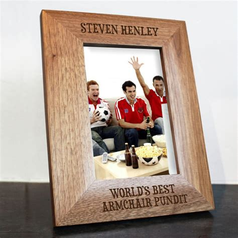 armchair pundit worlds greatest armchair pundit engraved photo frame sports fan football fan