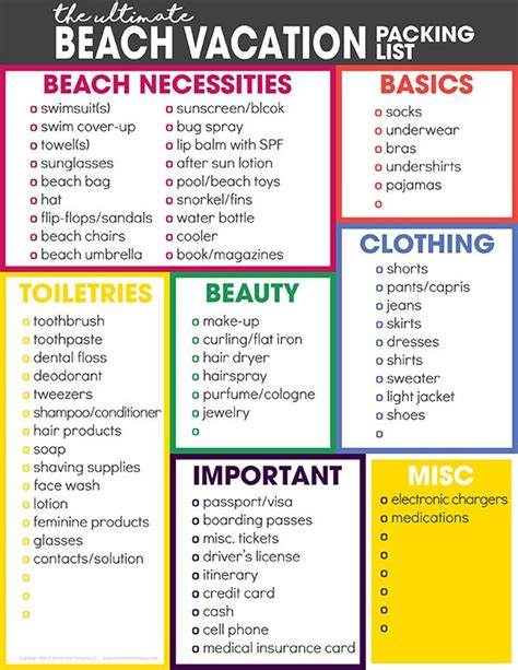the ultimate vacation packing list vacation