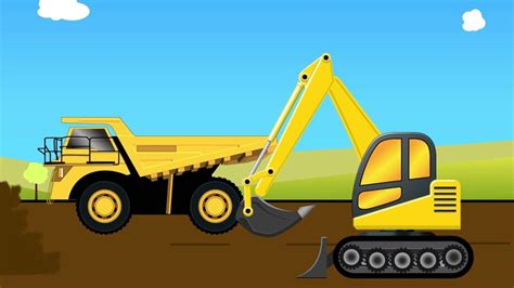 truck for children bulldozer and jcb truck fixing the road trucks for