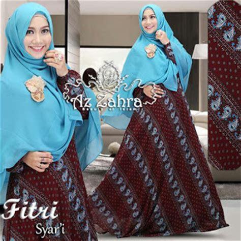 Baju Muslim Gamis Syari Payung Umbrella Tosca Murah jual baju model gamis batik modern fitri syari azzahra