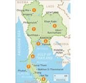 Map Of Thailand  Rough Guides