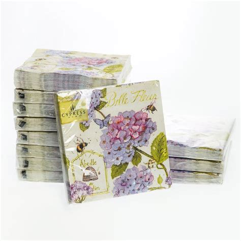 Paper Napkinnapkin Decoupagetissue Decoupage cocktail napkins 25x25cm 3 ply paper napkins for wedding hydrangea paper serviettes for