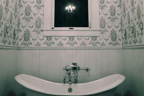 Black White Bathroom Wallpaper by Black And White Bathroom Wallpaper Gallery