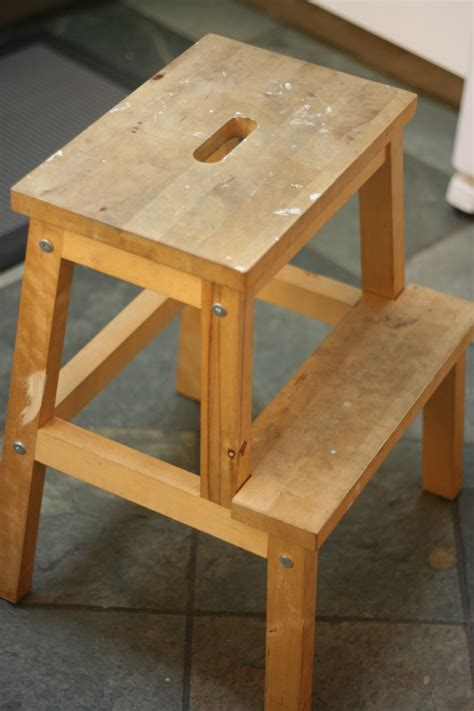 bekvam step stool from drab to fab ikea bekvam stool makeover hello