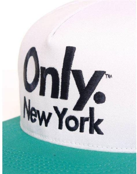 angelus paint logo only ny clothing sports logo snapback white teal hat