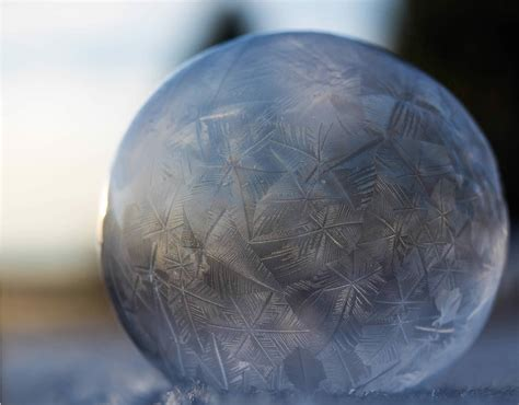 art  freezing soap bubbles scene