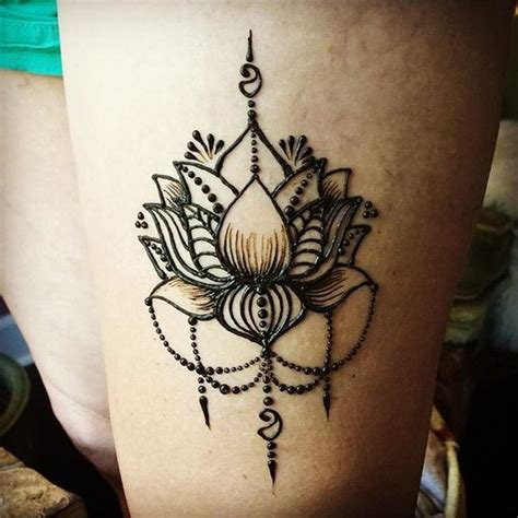 henna tattoos on thigh 17 best ideas about lotus henna on lotus