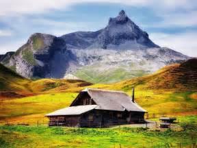 Mountain Cabin Decor Chalet De Montagne Paysage Hd Fond D 233 Cran 1152x864 Fond