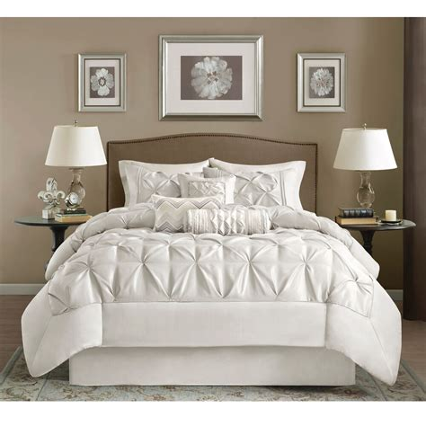 White Bed Set by Beautiful Modern White Ruffled Tufted Textured