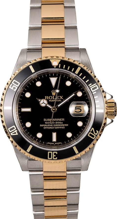 Rolex Oyster Submariner 2 rolex submariner 16613 two tone oyster