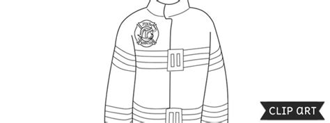 firefighter jacket coloring page firefighter jacket template clipart