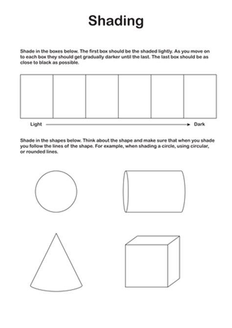 Shading Worksheet by Ks3 Shading Worksheet By Discophile Teaching