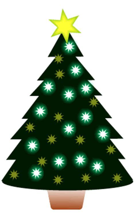 cute clipart animated christmas tree set