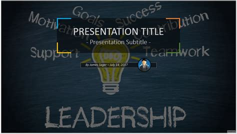 free leadership ppt themes leadership free powerpoint template 4816 free leadership