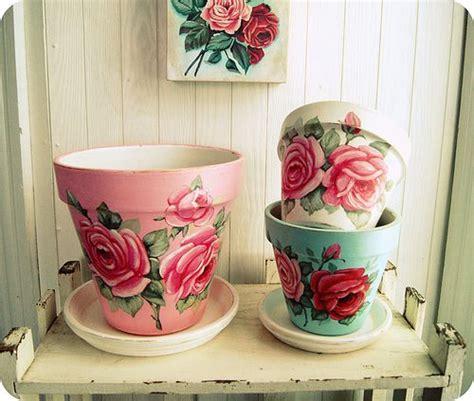 tutto vasi tutto 8217 s rosey dipinte a mano vasi di fiori da