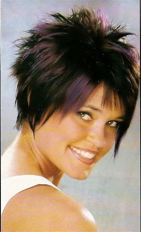 funky and cool hair color ideas to try in 2014 hair color eshibo68 short funky haircuts with purple highlights for round