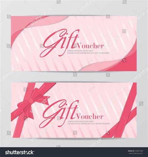 girl gift voucher certificate coupon template stock vector