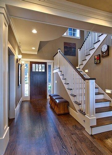 oak floors with walnut stain against simple white