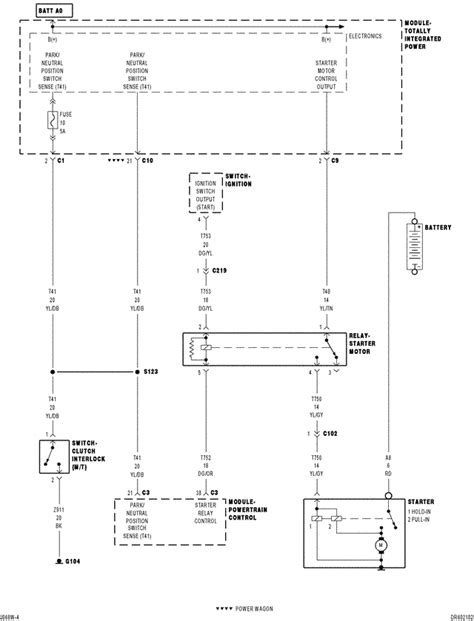dodge ram 1500 ignition wiring diagram where is and what color is the wire that goes from ignition switch to starter motor on a 2006