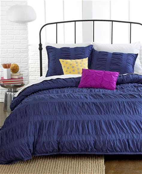 ruched comforter sets closeout ruched stripes navy 3 piece comforter and duvet