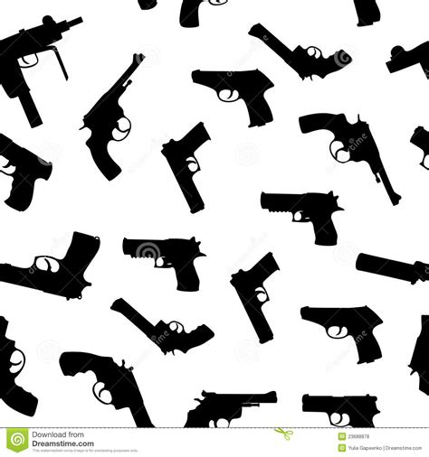 pattern stock gun vector guns set seamless pattern royalty free stock photos