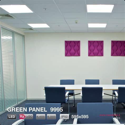 metalmek illuminazione led methacrylate built in l green panel 9995 295x595 by