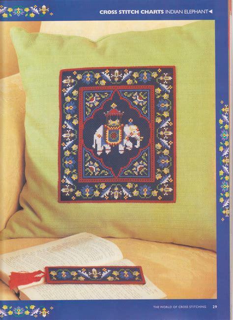 cuscini a punto croce schemi cuscino punto a croce con elefante indiano 2