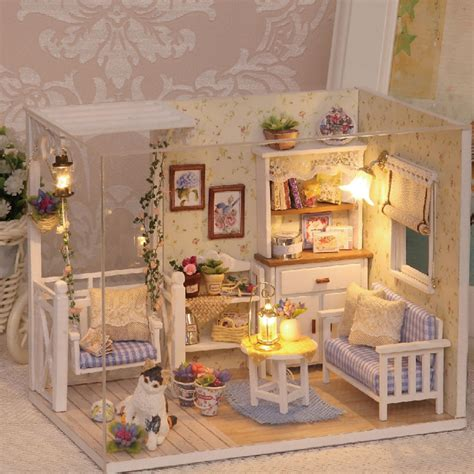 handmade dolls house miniatures diy miniature wooden doll house furniture kits toys
