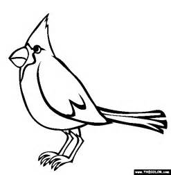 cardinal coloring page free stl cardinals coloring pages