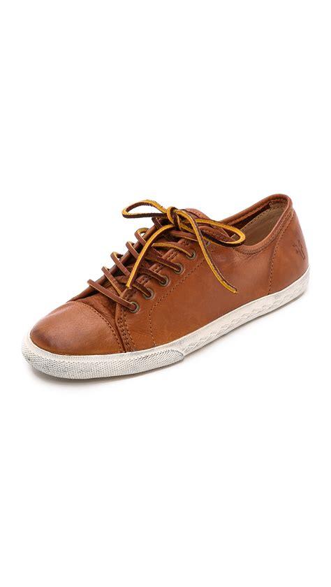 frye sneakers frye low sneakers whiskey in brown lyst