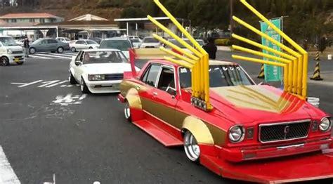 japanese ricer car takeyari japan s crazy bamboo spear exhaust for
