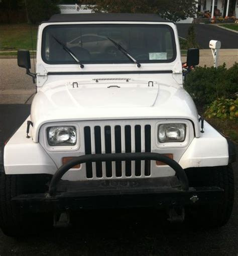 jeep new white buy used 1990 jeep wrangler yj white with hard top full